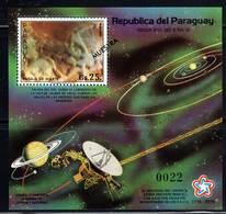 PARAGUAY - BLOC N°367 ** (1977) ESPACE - VOYAGER - MUESTRA - Sud America
