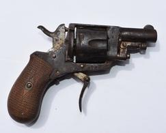 Revolver De Poche Ancien -  Hors D'usage (cassée) - Decorative Weapons