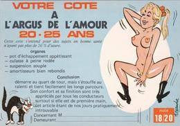 HUMOR UMORISTICHE CARICATURE DONNA VOTRE COTE A L'ARGUS DE L'AMOUR 20-25 ANS  ORIGINALE 100% - Humor