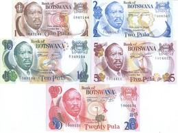 Botswana 5 Note Set 1976 COPY - Botswana