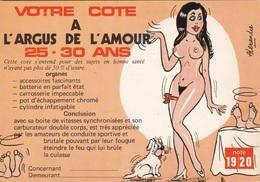 HUMOR UMORISTICHE CARICATURE DONNA VOTRE COTE A L'ARGUS DE L'AMOUR 25-30 ANS  ORIGINALE 100% - Humor