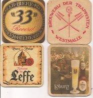 L35B854 - Sous-Bocks - 4 Pièces Différentes  Dessous De Verre Pub Bière - Beer Mats