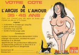 HUMOR UMORISTICHE CARICATURE DONNA VOTRE COTE A L'ARGUS DE L'AMOUR 35-45 ANS  ORIGINALE 100% - Humor
