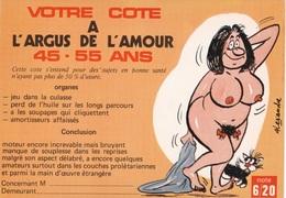 HUMOR UMORISTICHE CARICATURE DONNA VOTRE COTE A L'ARGUS DE L'AMOUR 45-55 ANS  ORIGINALE 100% - Humor