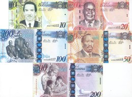 Botswana 5 Note Set 2009 COPY - Botswana