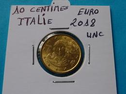 10 CENTIMES EURO ITALIE 2018 Unc ( Livrée Sous étui H B - Voir Les 3 Photos ) - Italie