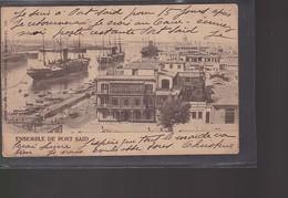 Cpa   L'ensemble Du   Port  Said   Année 1903  Destination Belgique - Port-Saïd