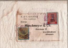 ! Original Coffee Bag, Kaffee Mustersendung, Muestras Sin Valor, 1933, Venezuela, Puerto Cabello, Hamburg, - Venezuela
