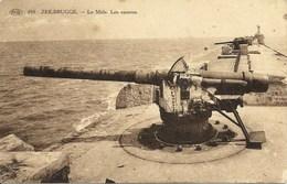 ZEEBRUGGES - Le Môle - Les Canons - Zeebrugge