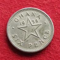 Ghana 6 Six Pence 1958 KM# 4 *V2 Gana - Ghana