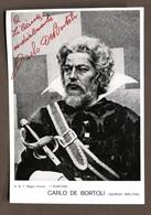 Musica Lirica - Autografo Del Basso Carlo De Bortoli - Anni '80 - Autografi