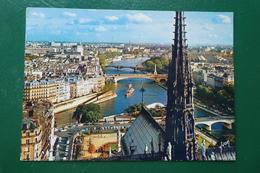 Paris Panorama Sur La Seine Vu Des Tours De Notre Dame écrite En 1969 - France