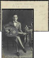 "Jewish Judaica Photo Postcard 13x8.5cm - ""To My Dear Brother..."" - Juive Juif Hebrew - Judaisme"