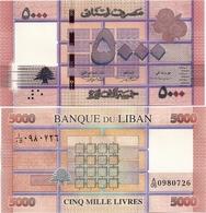 LEBANON       5000 Livres       P-91b       2014       UNC - Libano