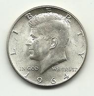 1964 - Stati Uniti 1/2 Dollar Argento - Kennedy - Emissioni Federali