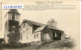 CPA - AUBRAC - L'EGLISE ET LA TOUR (IMPECCABLE) - Autres Communes