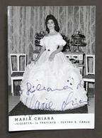 Musica Lirica Autografo Del Soprano Maria Chiara Anni '70 - Autografi