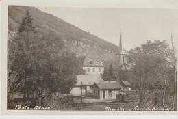 C.P. - PHOTO - MONNETIER - GARE DU FUNICULAIRE AVEC TRAIN - HAUSER - - Francia