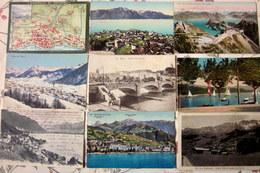 SUISSE SWITZERLAND : Lot De +/- 60 CPA Diverses - Toutes Scannées - 5 - 99 Cartoline