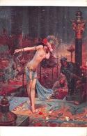 """¤¤  -  Tableau   -  Femme Aux Seins Nus  -  Salon De Paris """" Salomé """" De G. Bussière  -  ¤¤ - Tableaux"""