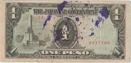 Filipinas (Ocupación Japonesa) - Philippines 1 Peso 1943 Pk 109 A.3.1 Sello Ref 20 - Philippinen