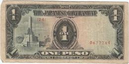 Filipinas (Ocupación Japonesa) - Philippines 1 Peso 1943 Pk 109 A.3.1 Sello Ref 21 - Philippinen