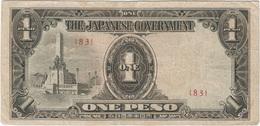 Filipinas (Ocupación Japonesa) - Philippines 1 Peso 1943 Pk 109 B.3.1 Sello Ref 22 - Philippinen