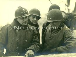 De LATTRE De TASSIGNY 1945 Colmar Dahlquist 1ère Armée WWII Grande Photo D'époque - Oorlog, Militair