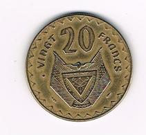 ° RWANDA  20 FRANCS 1977 - Rwanda