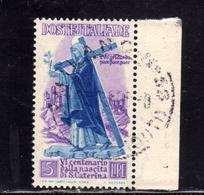 ITALY REPUBLIC ITALIA REPUBBLICA 1948 S. ST. SANTA CATERINA LIRE 5 USATO USED OBLITERE' - 1946-60: Gebraucht