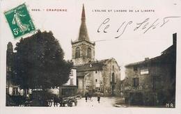 43 - CRAPONNE - HAUTE LOIRE - L'EGLISE ET L'ARBRE DE LA LIBERTE - VOIR SCANS - Craponne Sur Arzon