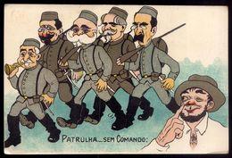 Postal Antigo SATIRA POLITICA Afonso Costa, Brito Camacho, Zé Povinho, Correia Barreto, Etc. Old Litho Postcard PORTUGAL - Portugal