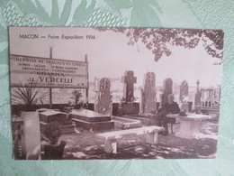 Macon . Foire Expo 1936 . Monuments Funeraires - Macon