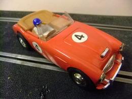 Scalextric Austin Healey C 74 Rojo Nº 4 Made In England Con Caja Y Información - Circuitos Automóviles