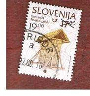 SLOVENIA  -   SG 454  -  2000  SLOVENIE CULTURE (OVERPRINTED 19,00)    -   USED - Slovenia