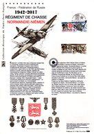 """"""" REGIMENT DE CHASSE NORMANDIE-NIEMEN """" Sur Document Philatélique Officiel De 2017. N° YT 5167  Parf état. DPO - Militares"""