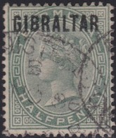 Gibraltar    .   SG     .   1       .       O      .      Cancelled        .   /    .  Gebruikt - Gibraltar