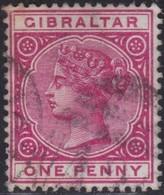 Gibraltar    .   SG     .     9       .       O      .      Cancelled        .   /    .  Gebruikt - Gibraltar