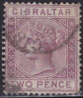 Gibraltar    .   SG     .     10       .       O      .      Cancelled        .   /    .  Gebruikt - Gibraltar