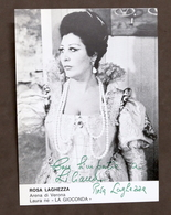 Musica Lirica - Autografo Della Cantante Rosa Laghezza - 1980 Ca. - Autografi