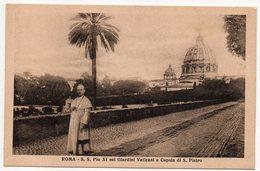 Italie--ROME --(pape) S.S Pie XI Nei Giardini Vaticani E Cupola Di S.Pietro (animée)  ............  à Saisir - San Pietro