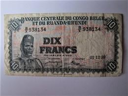 RUANDA-URUNDI - Dix Francs - 1959 - Ruanda-Urundi