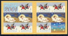 SLOVENIA 2000 Christmas S/a Booklet MNH / **.  Michel 330-31 MH II - Slovenia