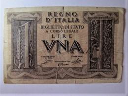 ITALIE - REGNO D'ITALIA - UNA LIRA - [ 1] …-1946 : Royaume