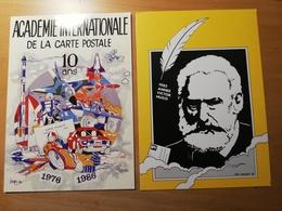 2 Cpsm Signées Mauger(1985 Année Victor Hugo) Et 10 Ans Académie De La CP 1976-86 Par Joelle Et Gerard Neudin - Illustrateurs & Photographes