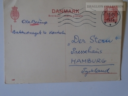 D163575  Denmark Postal Stationery Ganzsache Entier Postal -  1956  Cancel  HORSHOLM - Postal Stationery
