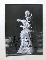 Musica Lirica - Autografo Del Mezzosoprano Franca Mattiucci - 1980 Ca. - Autografi