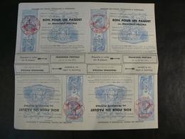 """FM Pour Colis N° 14 - Bloc De 4 Neufs - Cachet """"4ème Cie De Poste Militaire - Le Capitaine"""" - Franchise Militaire (timbres)"""