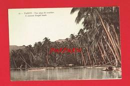 OCEANIE TAHITI Une Plage De Cocotiers ( Carte En Bon état ) - Tahiti