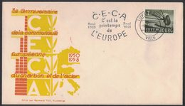 IN41   Luxembourg 1958 Card And Postmark CECA Printemps De L'Europe 1950-1958 - Idee Europee